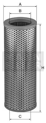 Filtre a huile de boite de vitesse MANN-FILTER HD 1057 (X1)