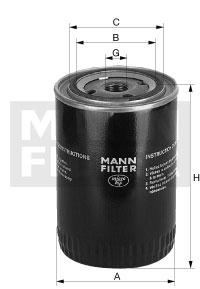 Filtre a huile de boite de vitesse MANN-FILTER W 1374/4 (X1)