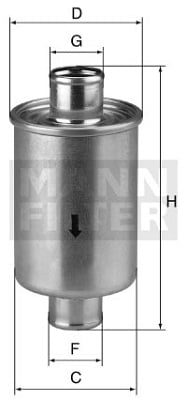 Filtre a huile de boite de vitesse MANN-FILTER W 76/1 (X1)