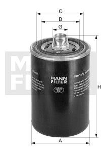Filtre a huile de boite de vitesse MANN-FILTER WD 940/4 (X1)