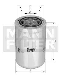 Filtre a huile de boite de vitesse MANN-FILTER WH 1262 (X1)