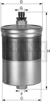 Filtre a carburant MANN-FILTER WK 726/1 (X1)