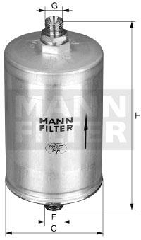 Filtre a carburant MANN-FILTER WK 830/11 (X1)