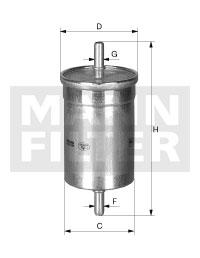 Filtre a carburant MANN-FILTER WK 612 (X1)
