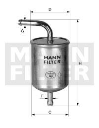 Filtre a carburant MANN-FILTER WK 78/1 (X1)
