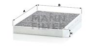 Filtre d'habitacle MANN-FILTER CUK 31 003 (X1)