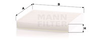 Filtre d'habitacle MANN-FILTER CU 1919 (X1)