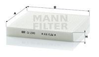 Filtre d'habitacle MANN-FILTER CU 2345 (X1)