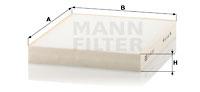 Filtre d'habitacle MANN-FILTER CU 23 003 (X1)