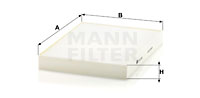 Filtre d'habitacle MANN-FILTER CU 28 003 (X1)