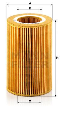 Filtre a air MANN-FILTER C 1036/1 (X1)