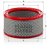 Filtre a air MANN-FILTER C 1633/1 (X1)
