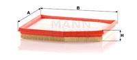 Filtre a air MANN-FILTER C 2558/5 (X1)