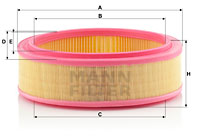 Filtre a air MANN-FILTER C 2672/1 (X1)