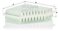 Filtre a air MANN-FILTER C 26 003 (X1)