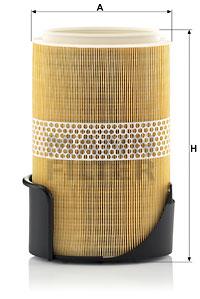 Filtre a air MANN-FILTER C 31 002 (X1)