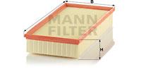 Filtre a air MANN-FILTER C 39 002 (X1)