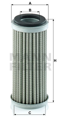 Filtre a huile de circuit hydraulique MANN-FILTER HD 5004 (X1)