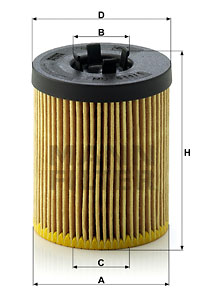Filtre a huile MANN-FILTER HU 611/1 x (X1)