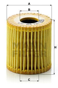 Filtre a huile MANN-FILTER HU 68 x (X1)