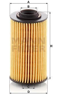 Filtre a huile MANN-FILTER HU 69/3 x (X1)