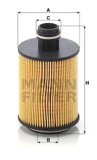 Filtre a huile MANN-FILTER HU 7004/1 x (X1)