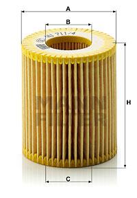 Filtre a huile MANN-FILTER HU 711/4 x (X1)
