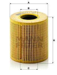 Filtre a huile MANN-FILTER HU 711/51 x (X1)