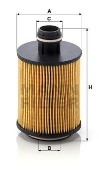 Filtre a huile MANN-FILTER HU 712/11 x (X1)