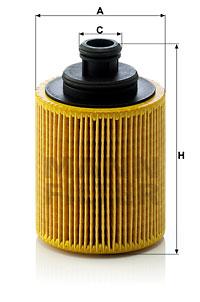 Filtre a huile MANN-FILTER HU 712/7 x (X1)