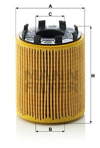 Filtre a huile MANN-FILTER HU 713/1 x (X1)