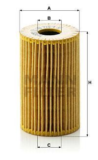 Filtre a huile MANN-FILTER HU 715/4 x (X1)