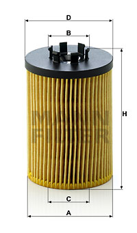 Filtre a huile MANN-FILTER HU 715/5 x (X1)