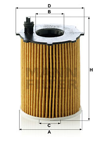 Filtre a huile MANN-FILTER HU 716/2 x (X1)