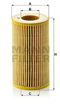 Filtre a huile MANN-FILTER HU 718/1 n (X1)