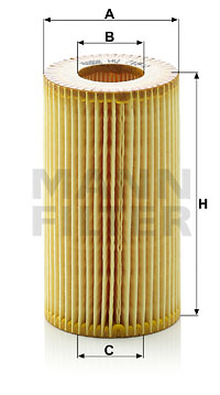 Filtre a huile MANN-FILTER HU 718/1 y (X1)
