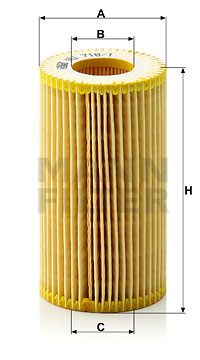 Filtre a huile MANN-FILTER HU 718/1 z (X1)