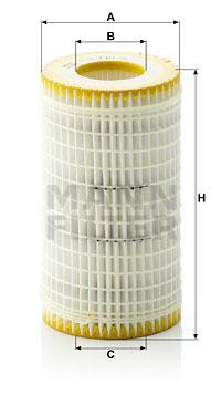 Filtre a huile MANN-FILTER HU 718/5 x (X1)