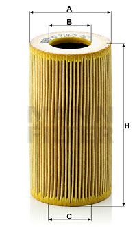 Filtre a huile MANN-FILTER HU 719/5 x (X1)