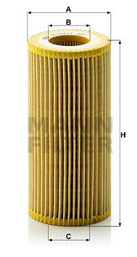 Filtre a huile MANN-FILTER HU 721/3 x (X1)