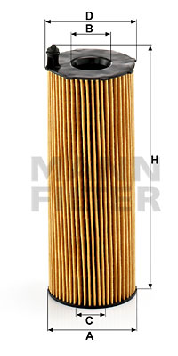 Filtre a huile MANN-FILTER HU 8001 x (X1)