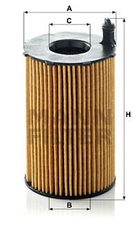 Filtre a huile MANN-FILTER HU 8005 z (X1)