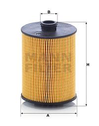 Filtre a huile MANN-FILTER HU 8009 z (X1)
