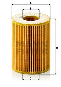 Filtre a huile MANN-FILTER HU 820 x (X1)
