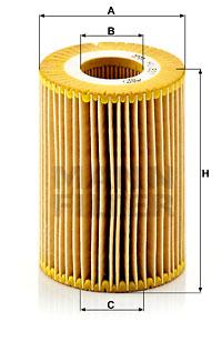 Filtre a huile MANN-FILTER HU 821 x (X1)