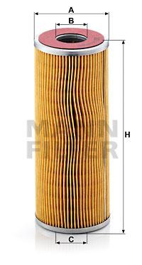 Filtration MANN-FILTER H 1072/11 x (X1)