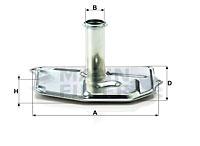 Filtre a huile de boite de vitesse MANN-FILTER H 187/1 KIT (X1)