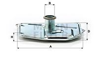 Filtre a huile de boite de vitesse MANN-FILTER H 199/1 (X1)