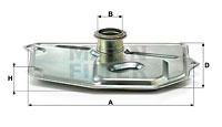 Filtre a huile de boite de vitesse MANN-FILTER H 199/3 KIT (X1)