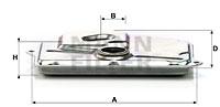 Filtre a huile de boite de vitesse MANN-FILTER H 199 (X1)